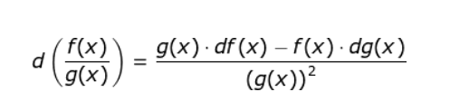 Quotient Rule Derivative formula