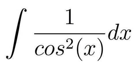 Integral of 1/cos^2x