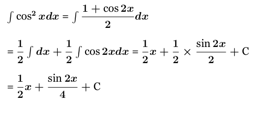 Integral of cos^2(2x)
