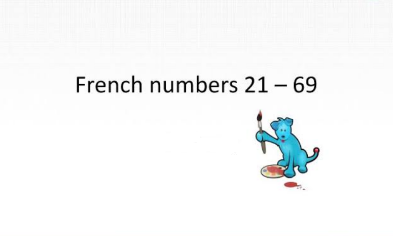 Numbers in French 21-69