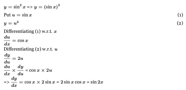 derivative of sin^2x