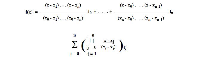 Lagrange Interpolation Formula