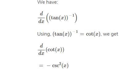 Derivative of tanx^-1