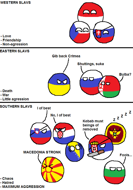 East, West And South Slavic Countries Behaviours
