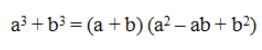 Factor Sum Of Cubes