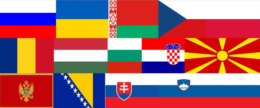 Slavic Countries Flags