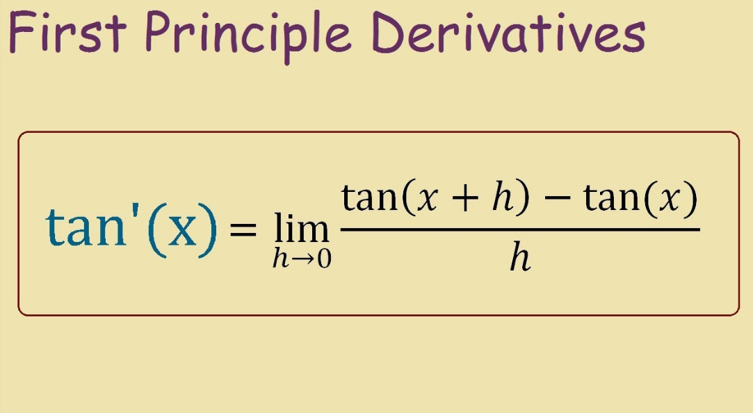 derivative of tangent
