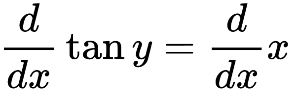 derivative of tany