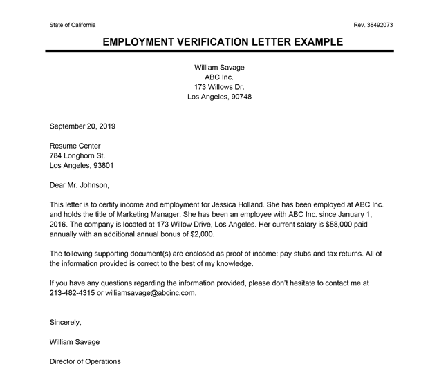 Letter From Employer Proof Of Income from studyqueries.com