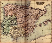 Ancient Spain Geography, Map