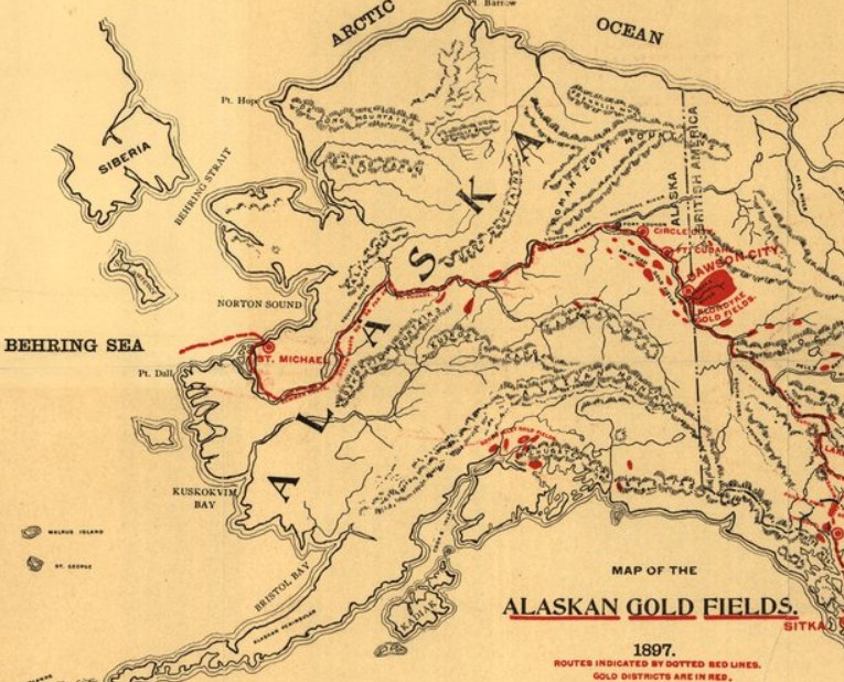 Gold Rush Field In Alaska