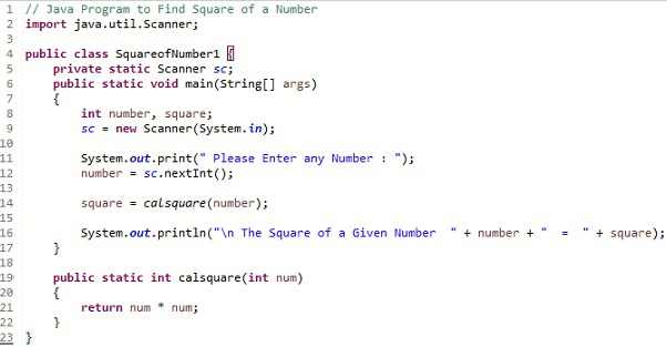 How to Square a Number in Java