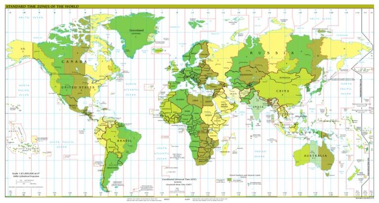 Circle Of Illumination Time Zones