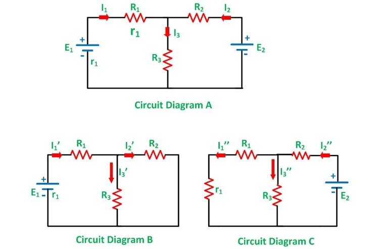 Superposition Theorem Circuit Diagram