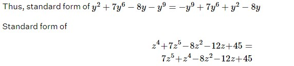 Standard Form of Polynomial