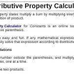 Distributive Property Calculator